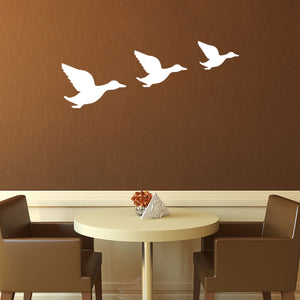 Set of three flying ducks | Wall Decal | Wall Art | Adnil Creations