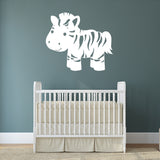 Cute jungle zebra | Wall Decal | Wall Art | Adnil Creations