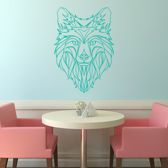 Abstract Wolf Head | Wall Decal | Wall Art | Adnil Creations