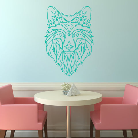 Abstract Wolf Head - Wall Art - Adnil Creations