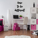 Dare to be different | Wall Quote | Wall Quote | Adnil Creations