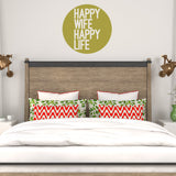 Happy wife happy life | Wall Quote | Wall Quote | Adnil Creations