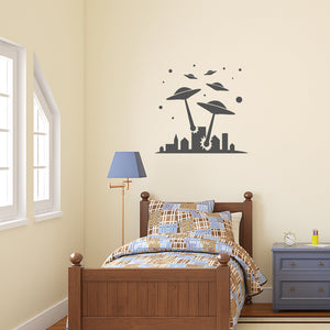 Alien Invasion | Wall Decal | Wall Art | Adnil Creations