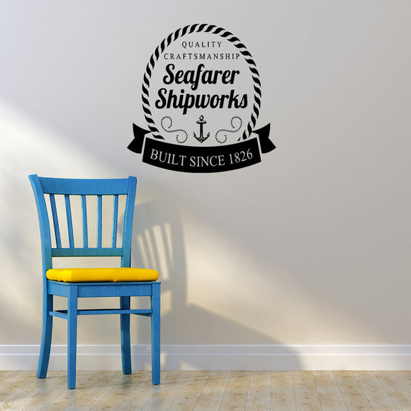 Seafarer shipworks | Wall Decal | Wall Art | Adnil Creations