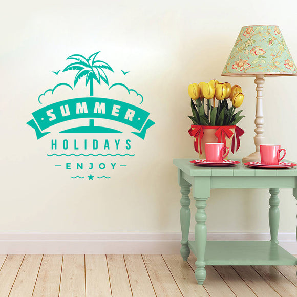Summer holidays enjoy | Wall Decal | Wall Art | Adnil Creations