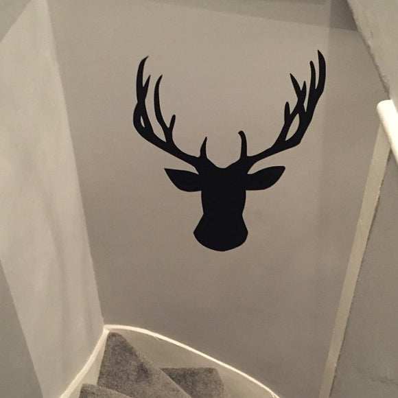 Stag Head | Wall Decal | Wall Art | Adnil Creations