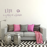 Life is a journey not a destination | Wall Quote | Wall Quote | Adnil Creations