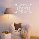 Pagan Triple Moon | Wall Decal | Wall Art | Adnil Creations
