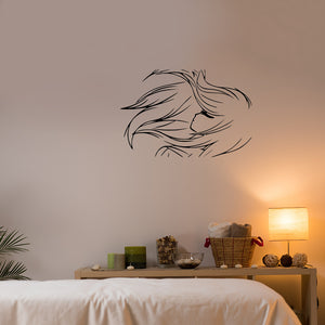 Windswept Girl | Wall Decal | Wall Art | Adnil Creations