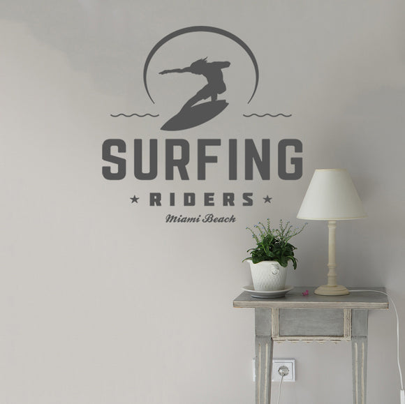 Surfing riders | Wall Decal | Wall Art | Adnil Creations