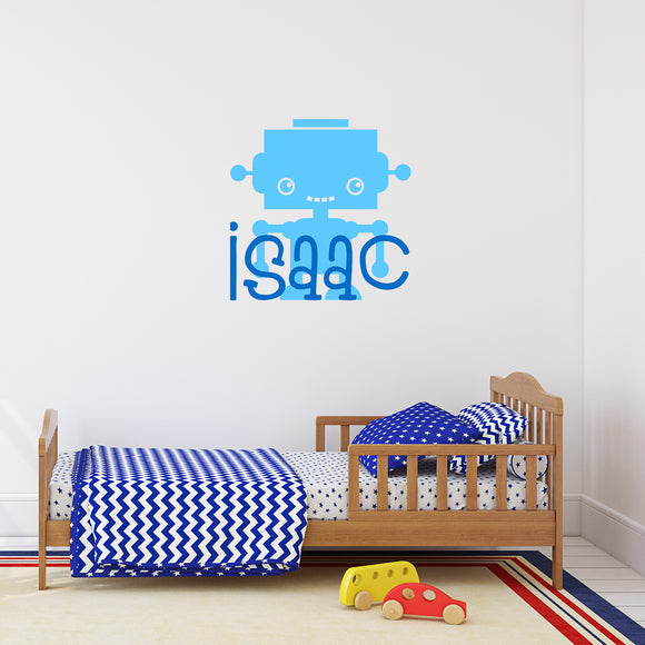 Robot with name | Monogram Decal