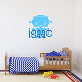 Robot with name | Monogram Decal | Monogram and Name Decals | Adnil Creations