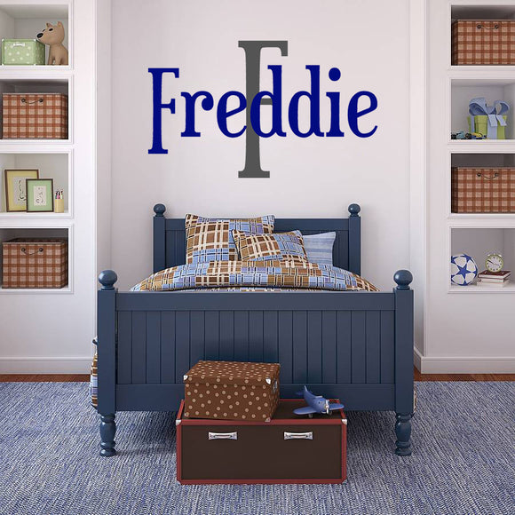 Boy's bedroom | Name  | Monogram Decal | Monogram and Name Decals | Adnil Creations