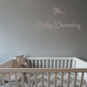 Shh...Baby dreaming | Wall Quote | Wall Quote | Adnil Creations