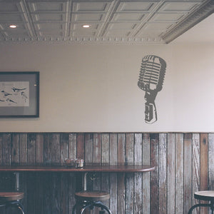 Vintage microphone | Wall Decal | Wall Art | Adnil Creations