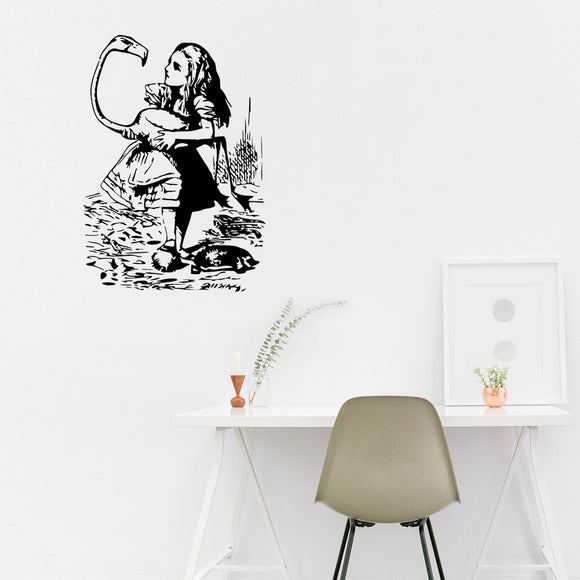 The Queen's Croquet Ground | Alice's Adventures in Wonderland | Wall Decal | Wall Art | Adnil Creations