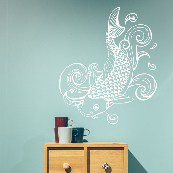 Japanese koi | Wall Decal | Wall Art | Adnil Creations