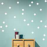 Set of 50 Squares Wall Stickers | 5 sizes available to choose from | Repeating Pattern | Adnil Creations