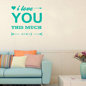 I love you this much | Wall Quote | Wall Quote | Adnil Creations