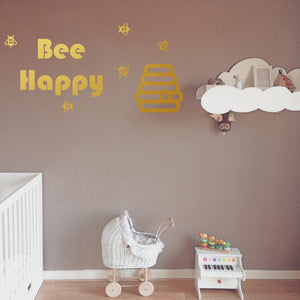 Bee happy | Wall Quote | Wall Quote | Adnil Creations