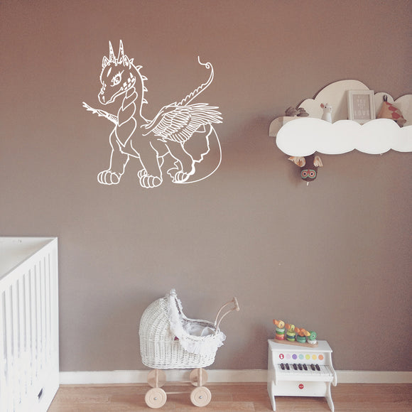 Cute baby dragon | Wall Decal | Wall Art | Adnil Creations