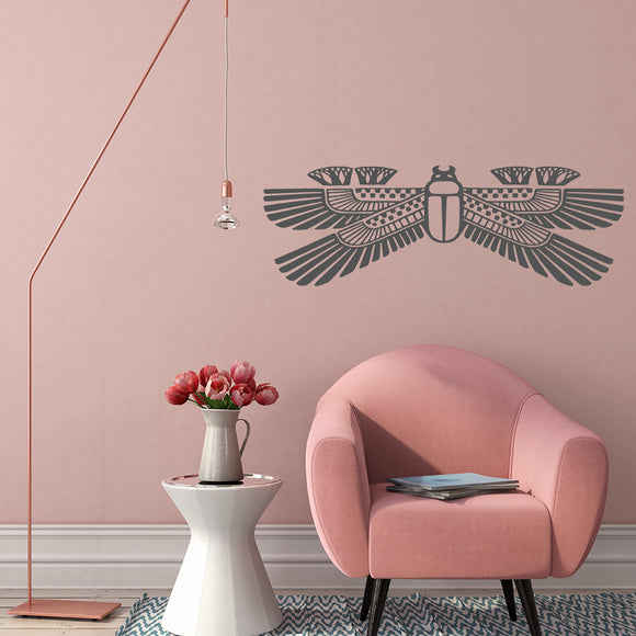 Egyptian Scarab Beetle | Wall Decal | Wall Art | Adnil Creations