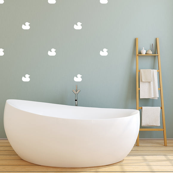 Set of 50 Rubber Duck Wall Stickers | 5 sizes available to choose from
