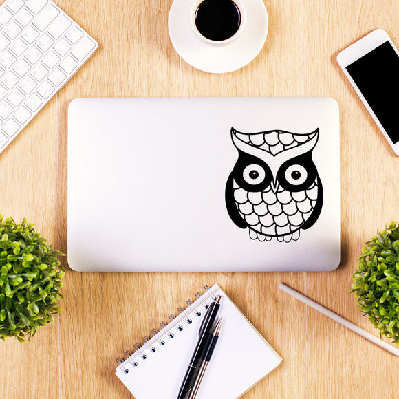 Cute Owl | Laptop Decal | Macbook Decal | Adnil Creations