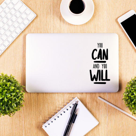 You can and you will | Laptop Decal | Macbook Decal | Adnil Creations