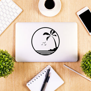 Tropical Sunset Beach | Laptop Decal | Macbook Decal | Adnil Creations