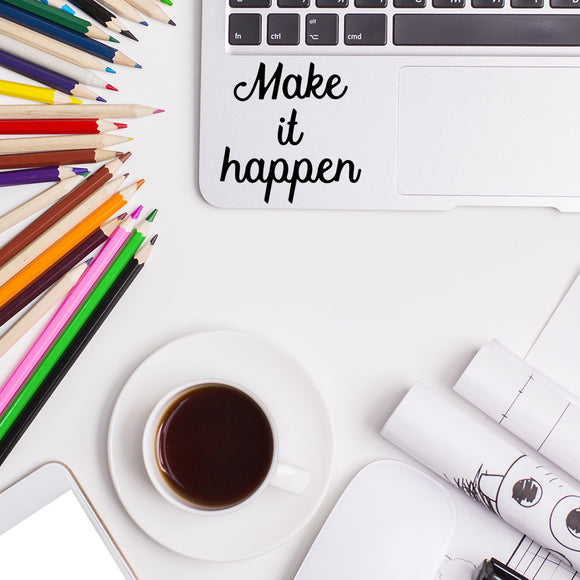 Make it happen | Trackpad decal | Macbook Decal | Adnil Creations