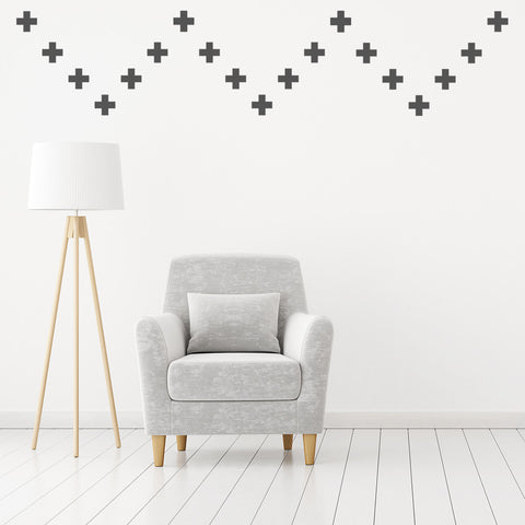 Set of 50 Cross Wall Stickers - 3 sizes available to choose from
