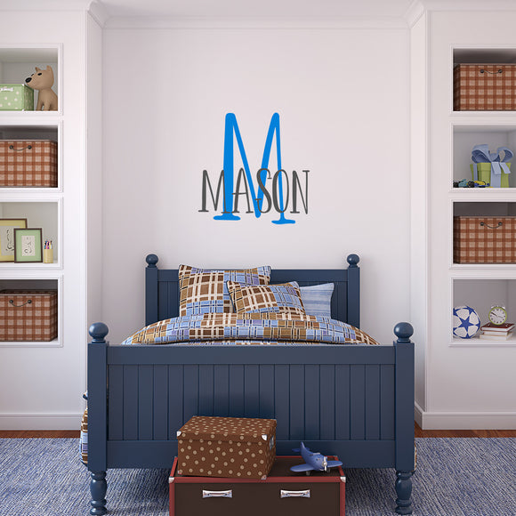 Simple two colour monogram decal | Monogram Decal | Monogram and Name Decals | Adnil Creations