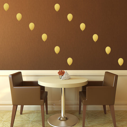 Set of 50 Balloons Wall Stickers - 3 sizes available to choose from