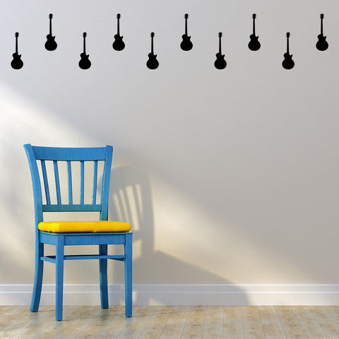 Set of 50 Guitar Wall Stickers - 3 sizes available to choose from