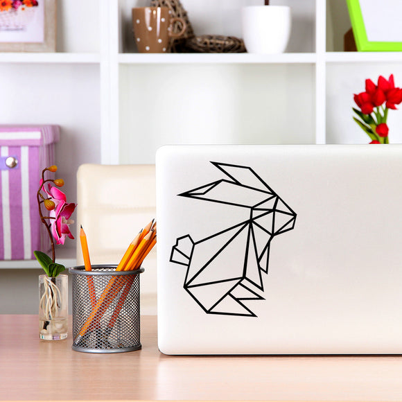 Geometric Bunny Rabbit | Laptop Decal | Macbook Decal | Adnil Creations