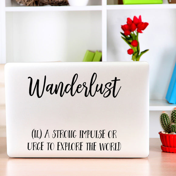 Wanderlust | Laptop Decal | Macbook Decal | Adnil Creations