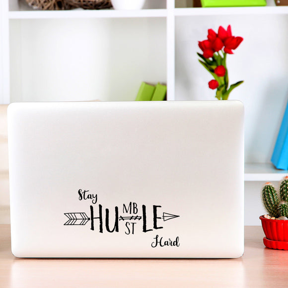 Stay Humble - Hustle Hard | Laptop Decal | Macbook Decal | Adnil Creations