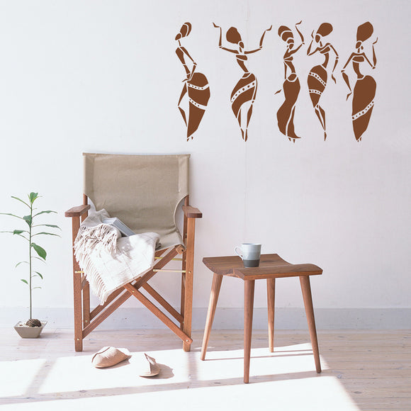 African Women Dancers | Wall Decal - Adnil Creations