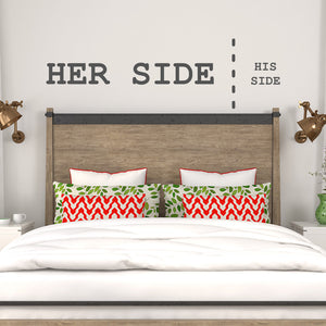 Her side, his side | Wall Quote | Wall Quote | Adnil Creations