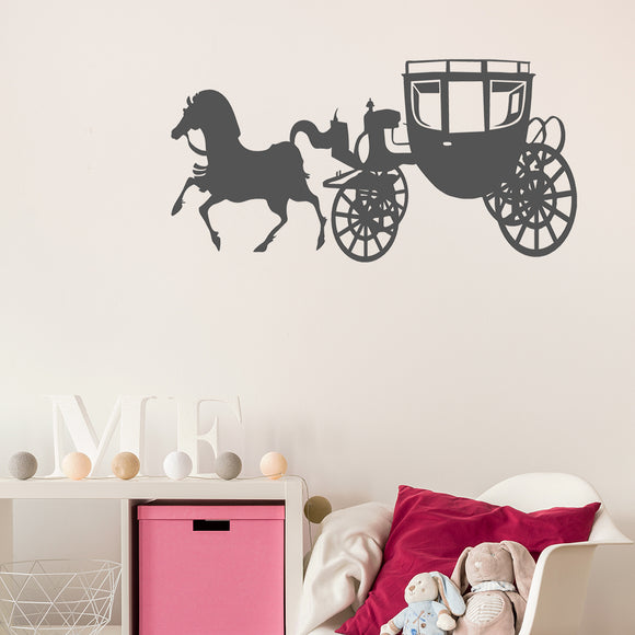 Horse and Carriage | Wall Decal | Wall Art | Adnil Creations