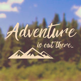 Adventure is out there | Bumper Sticker | Bumper Sticker | Adnil Creations