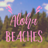 Aloha Beaches | Bumper Sticker | Bumper Sticker | Adnil Creations