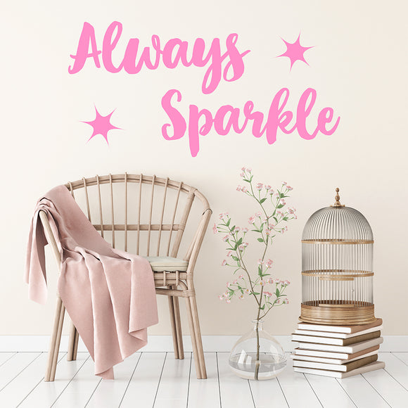 Always Sparkle | Wall Quote | Wall Quote | Adnil Creations