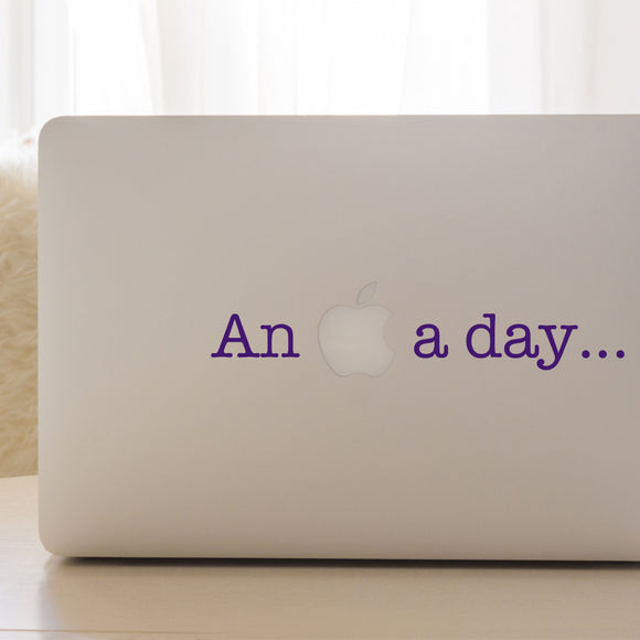 An Apple a day | Laptop Decal | Macbook Decal | Adnil Creations