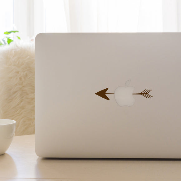 Arrow through Apple | Laptop Decal | Macbook Decal | Adnil Creations