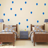 Set of 50 Balloons Wall Stickers | 4 sizes available to choose from | Repeating Pattern | Adnil Creations