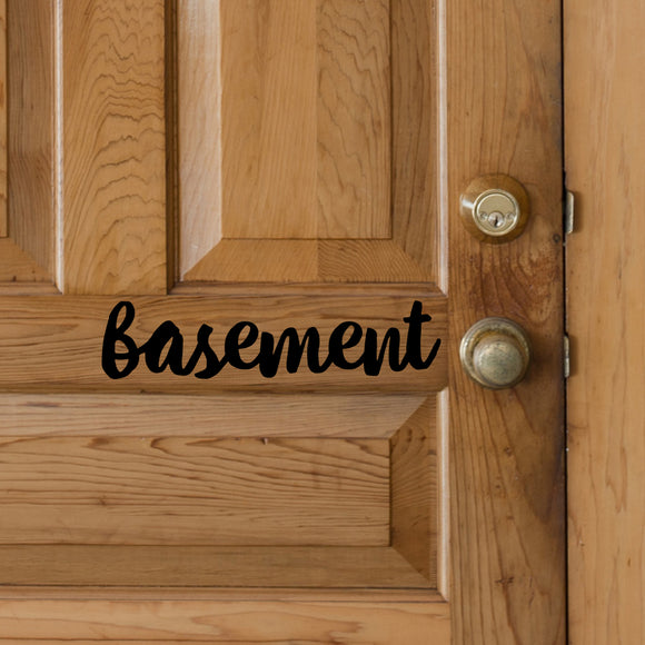 Basement | Door Decal | Door Decals | Adnil Creations