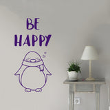 Be happy penguin | Wall Decal | Wall Art | Adnil Creations