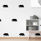 Set of 50 Bear Wall Stickers | 4 sizes available to choose from | Repeating Pattern | Adnil Creations